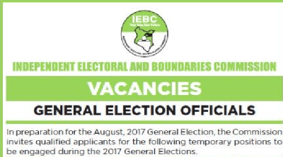 IEBC 359,958 temporary jobs for June 2017 How to apply, procedure for Clerks recruitment
