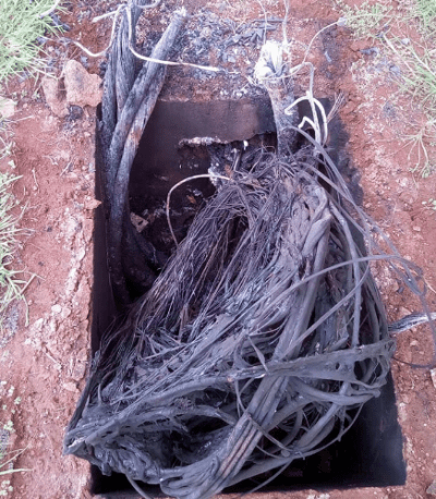Burnt wire connection at suraya homes