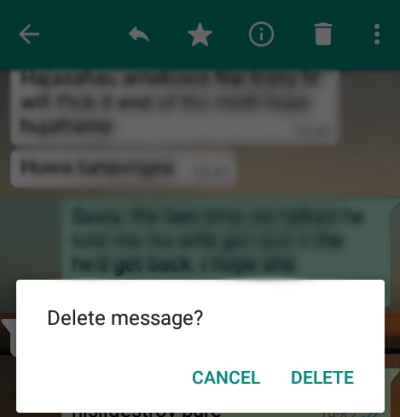 How to Delete Whatsapp Sent, Delivered Messages before reading