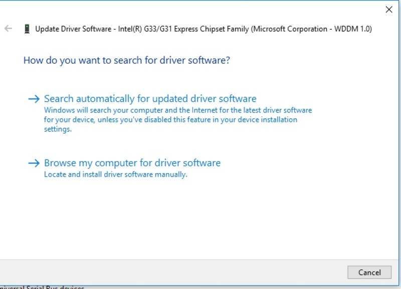 Driver search options