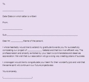 Sample appreciation letter and how write a letter of appreciation