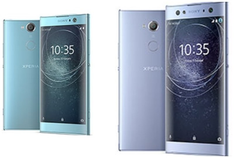 The Sony Xperia XA2 and XA2 Ultra smartphones showcased at CES 2018