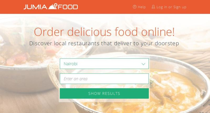 website for Jumia food deliveries in nairobi, kenya
