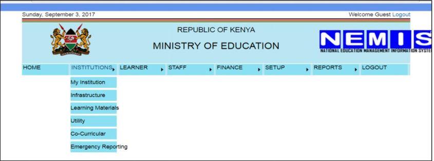NEMIS institution registration manual