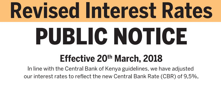 Equity Bank new 2018 Revised Interest Rates for Loans