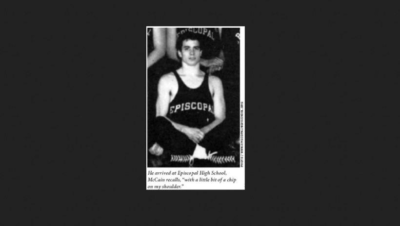 Early photo of John McCain in Episcopal High School