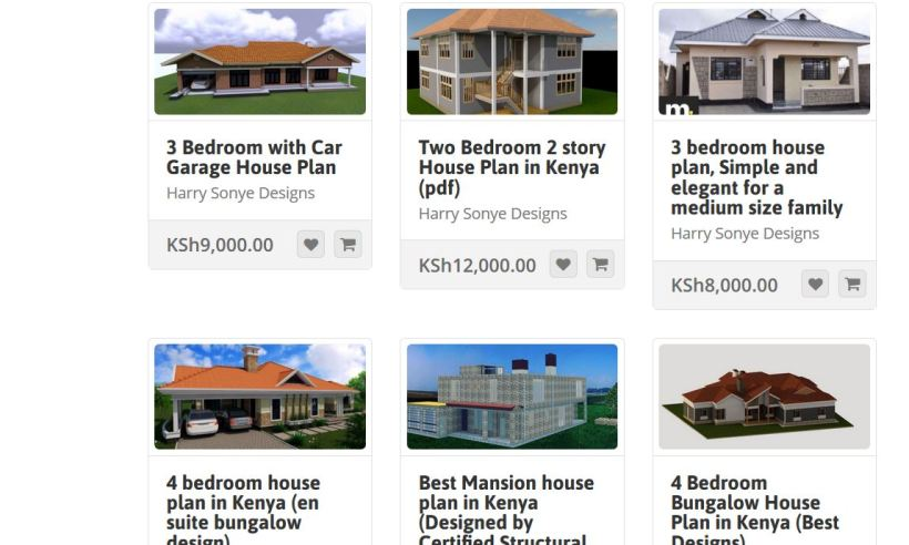 Muthurwa marketplace House plans in kenya for 2, 3, 4 bedroom houses