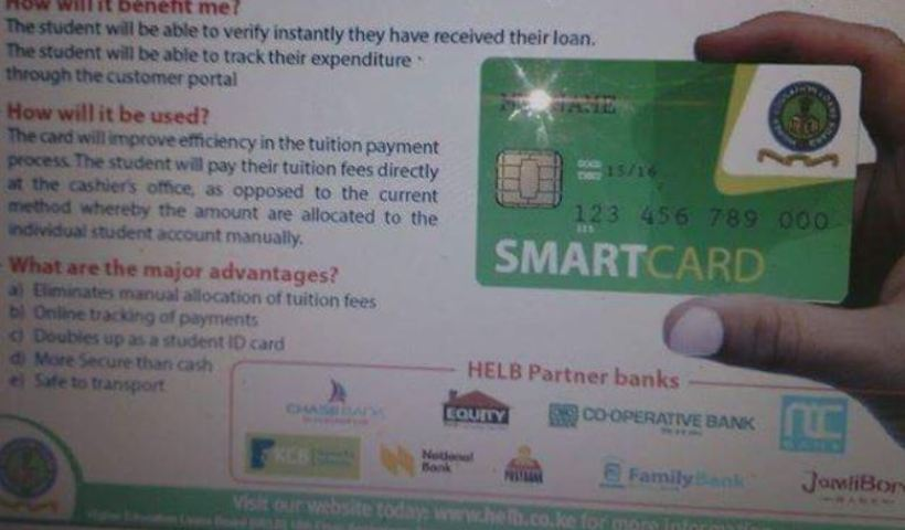 Procedure of How students can apply and get HELB Smart Card for Equity Bank, KCB and other banks