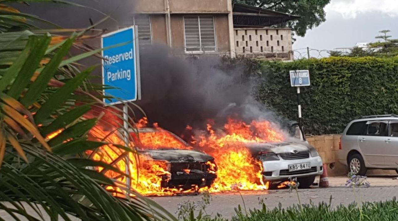 Photos at 14 Riverside explosive attack that brunt Vehicles