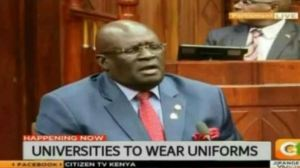 Circulating statement University students to wear school Uniform attributed to Magoha is fake news