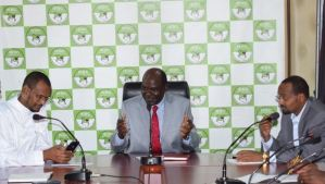Working at IEBC, Latest Job Vacancies, How to apply, Salary photo of IEBC Chair Wafula Chebukati and Commissioners