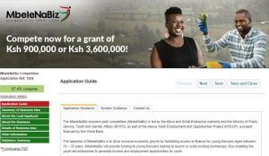 A guide on How to apply for MbeleNaBiz Business Competition, Application forms