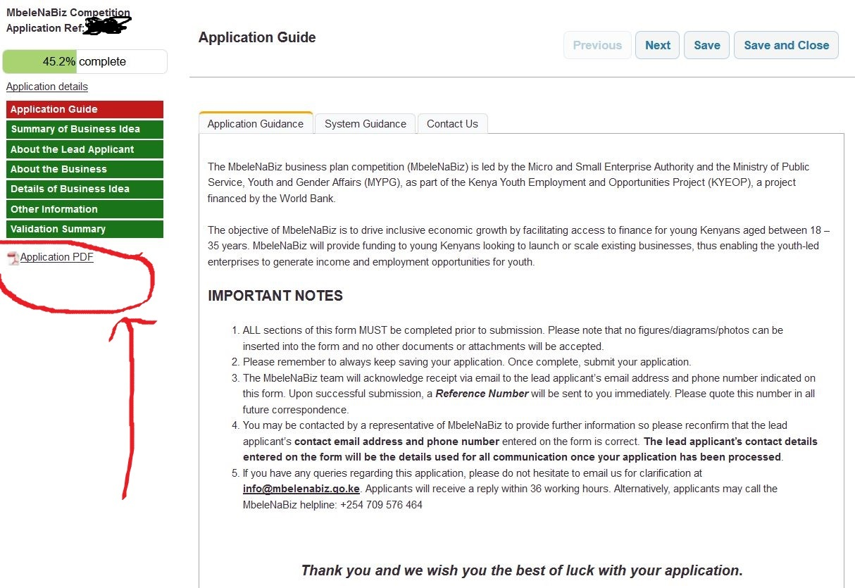 download application form and fill it manually