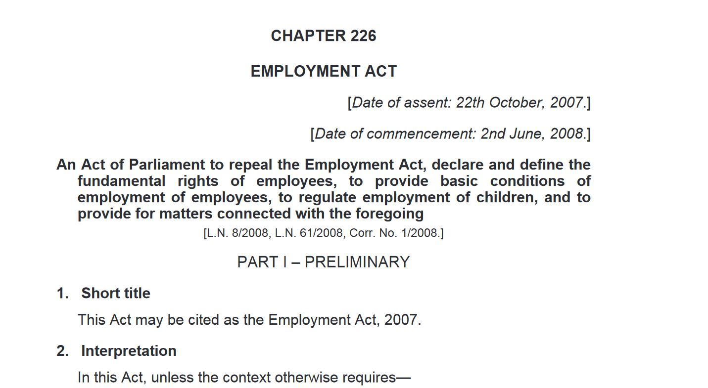 Suing Your Employer in Kenya for, Maternity Leave, Discrimination, Salary, Long Working Hours