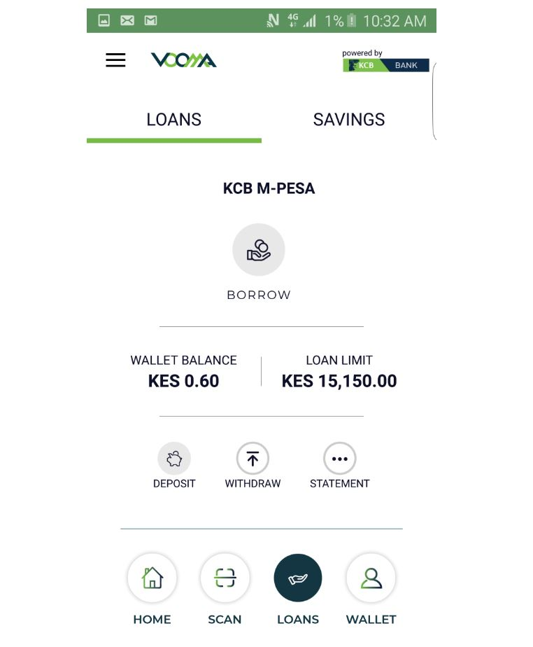Vooma Loans app by KCB Mpesa