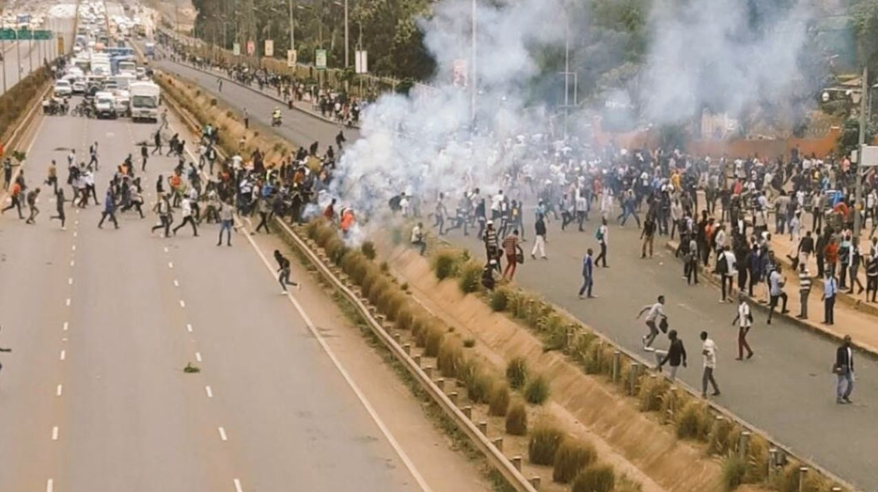 kenyatta university students protesting