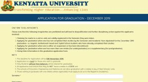 procedure of how to apply for Kenyatta University Graduation ceremony online