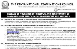How to check KNEC Business and Technical results VIA SMS Code (for Novermber 2019)