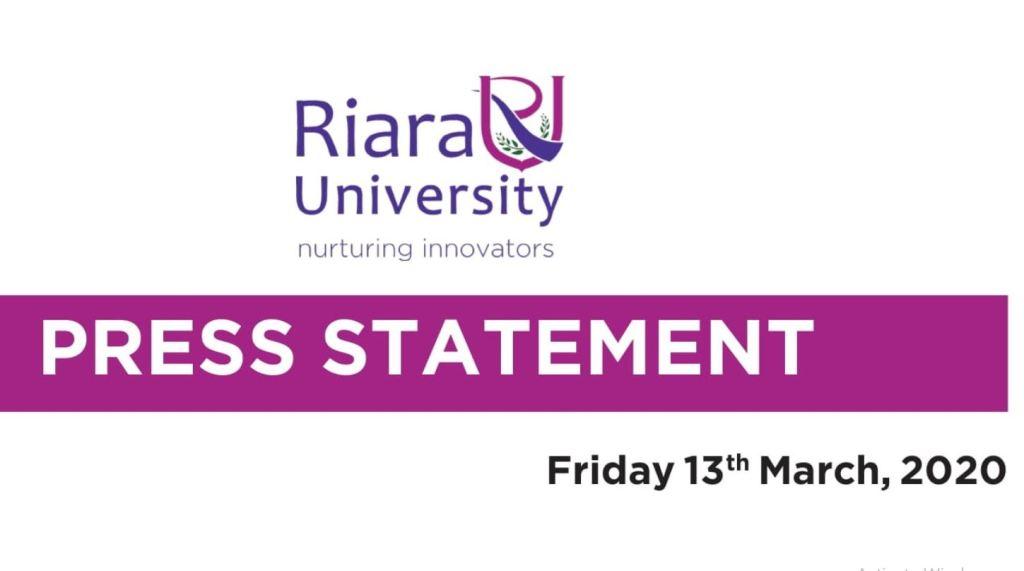 Riara University postpones Graduation Ceremony as coronavirus precautionary measure
