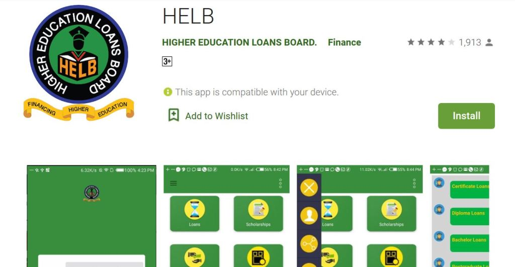 helb loan mobile app registration and application process