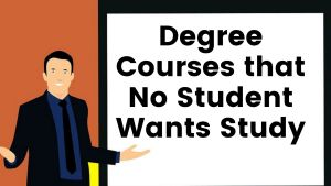 Degree Courses with with less student demand