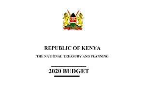 Kenya budget 2020, 2021 summary statement and pdf report