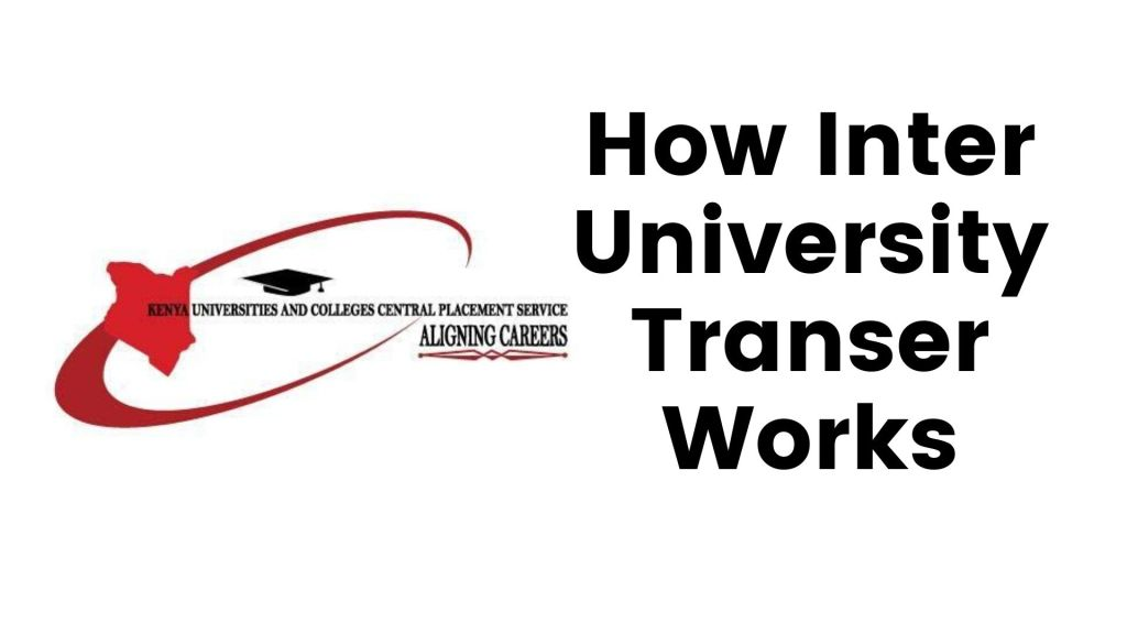 Process of KUCCPS Inter University Transfer