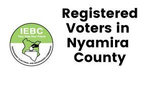 IEBC Nyamira County Registered Voters