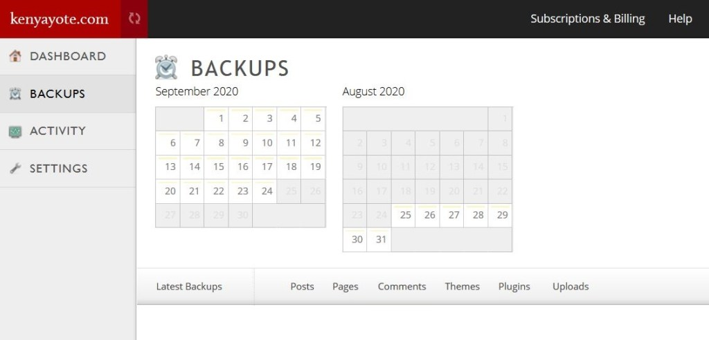 Jetpack website backup tool