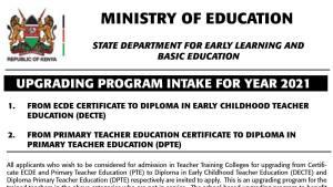 Ministry of education upgrading program for kenyan teachers