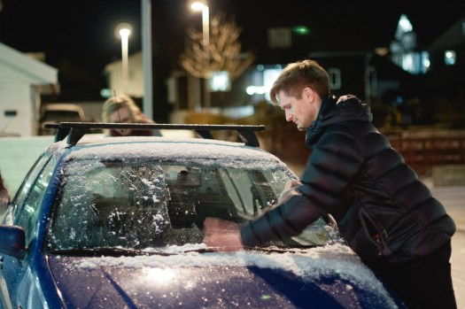 A favorite pastime - helping friends de-ice their cars before they head home.