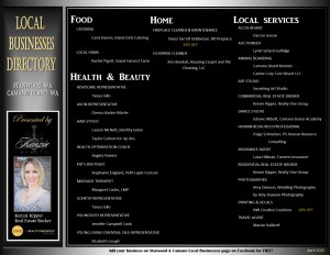 April Local Businesses Directory