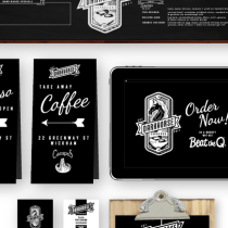 Dark Horse Espresso Branding Poster Illustration Graphic Design Keo Match