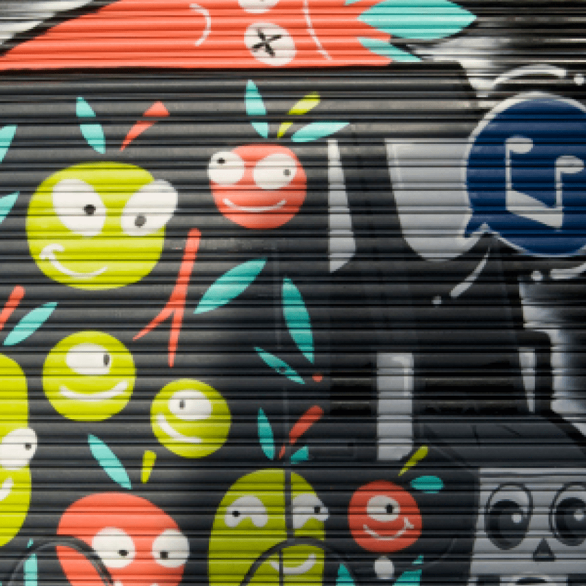 "The COMMUNE Rollerdoor Mural – ""Vegie Van"" – Keo Match x William Nghiem – Newtown, Sydney"