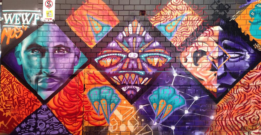Meeting of Styles 2016 - WEWF crew wall(1) - Street Art, Melbourne