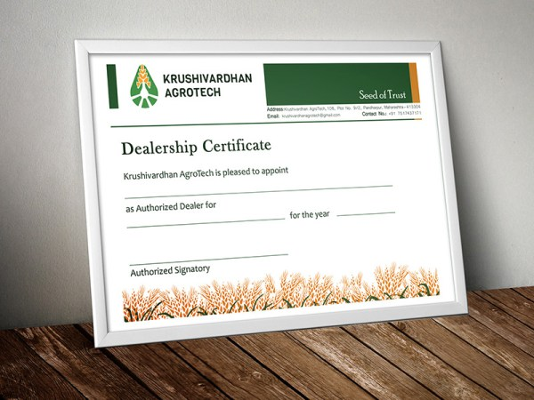 Certificate design by keon deesigns
