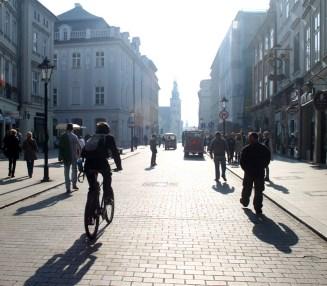 Downtown Krakow, Poland