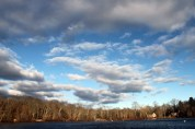 Clouds over Lake from other side of Blydenburg