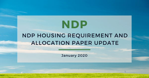 NDP Housing Requirement and Allocation Paper update