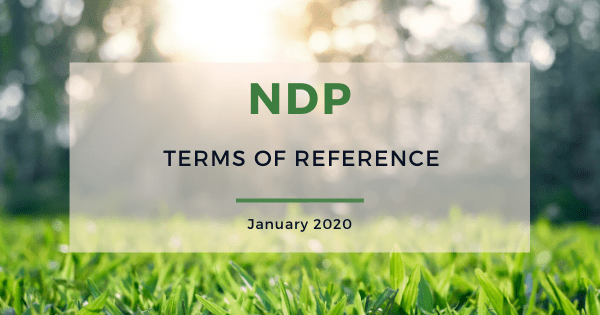 NDP terms of reference