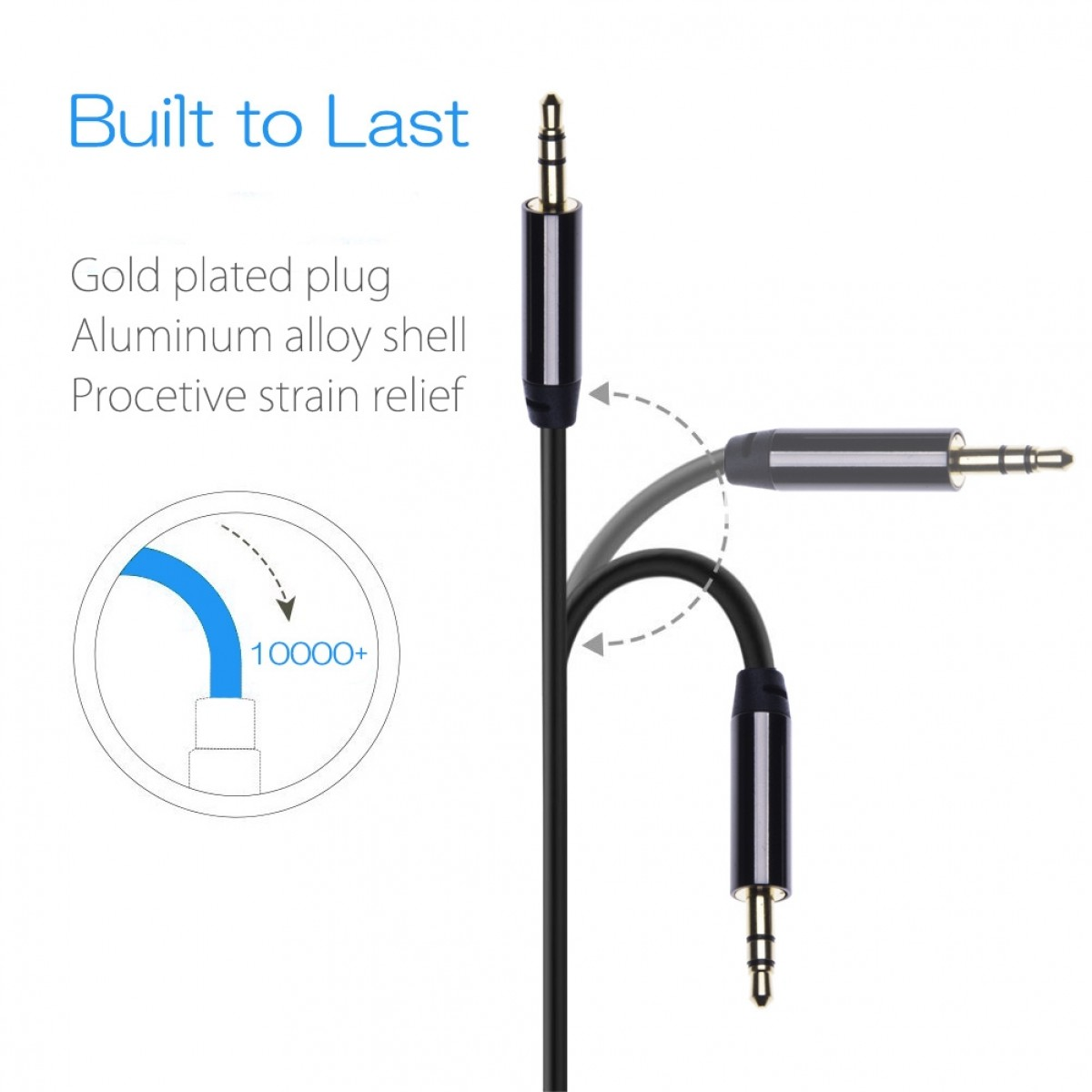 Aux Audio Cable Compatible With Sony Xperia X Compact