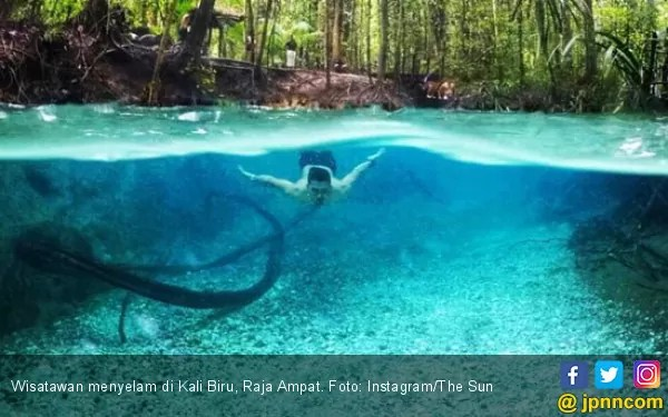 travel papua, raja ampat, kali biru raja ampat
