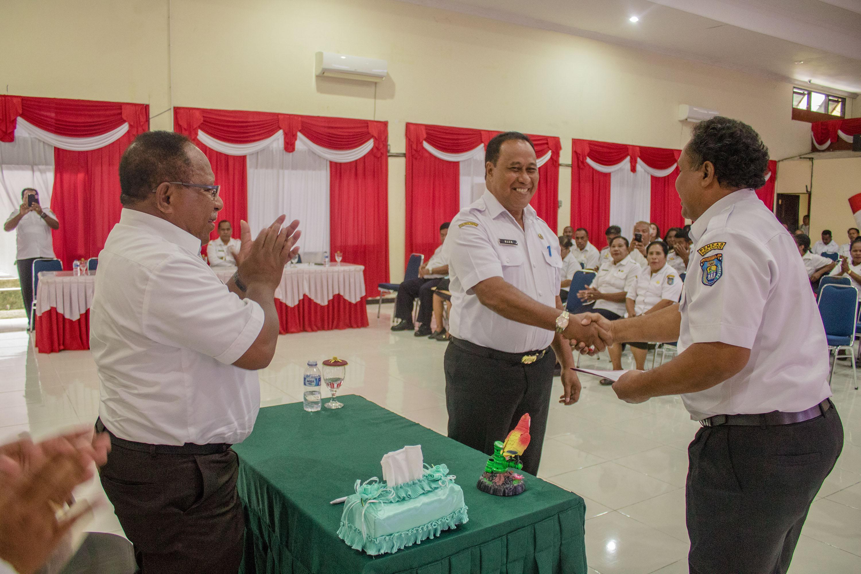 PEMERINTAH KABUPATEN KEPULAUAN YAPEN GELAR SERTIJAB PARA PEJABAT OPD 2019