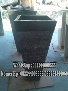 Pedestal Marmer Hitam | Kerajinan Batu Marmer | Pedestal Minimalis