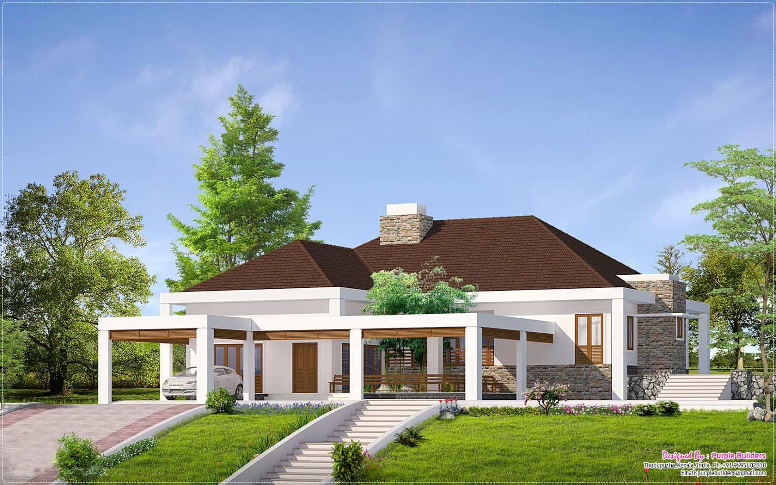 Beautiful Kerala House Design With Outside 'Nadumuttam