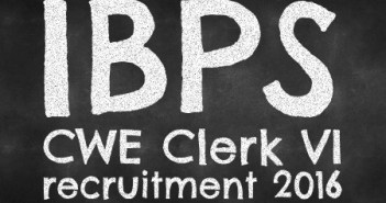 IBPS-CWE-Clerk-VI -recruitment-2016