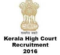kerala high court recruitment