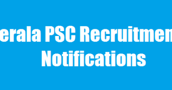 Kerala PSC Notifications 2016