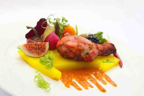 Tandoori chicken drumsticks - The bright orange glow from the turmeric, kashmiri chilli powder, cumin, and garam masala in yogurt that coat the chicken and fall into a sauce sopped up with basmati rice and naan are very easy to love.