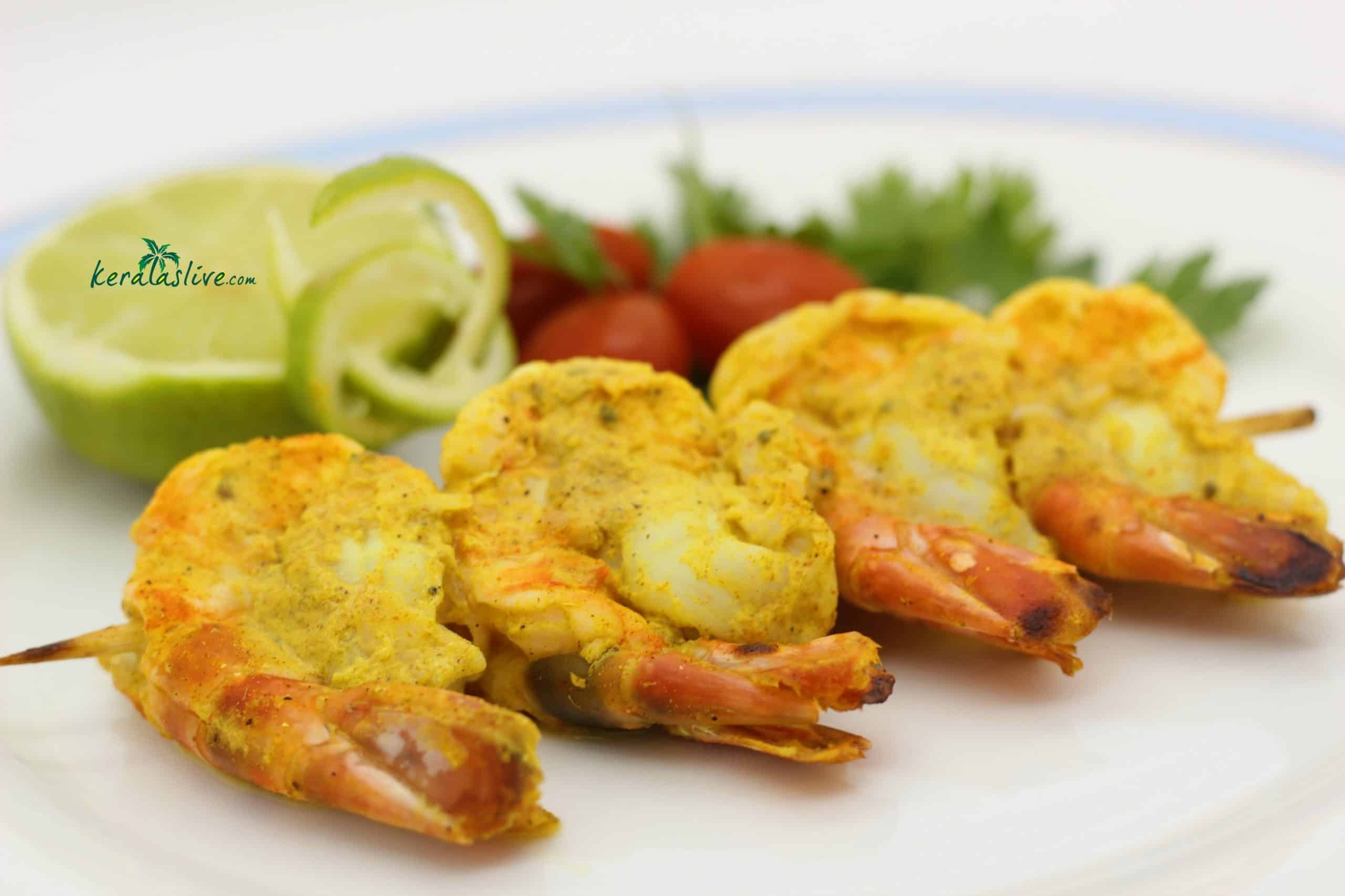 keralas spicy grilled prawns recipe